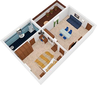 Bilocale Goletta Vista 3D | Residence Veliero